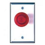 Camden Door Controls CM-3150G | Illuminated Green Mushroom Pushbutton, Narrow, Push/Pull, N/O & N/C, Maintained, Blank Faceplate, Brushed Aluminum