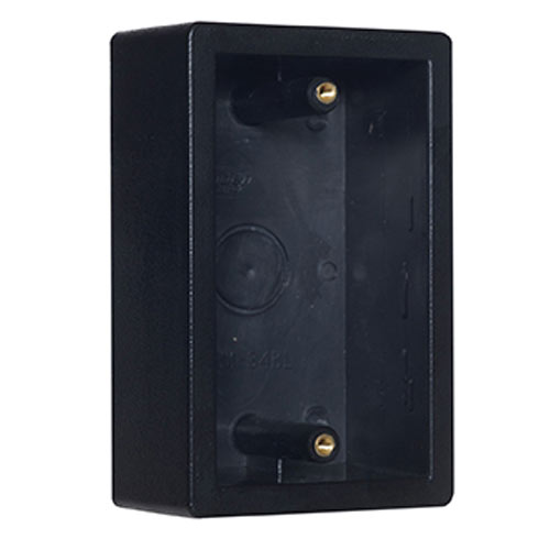 Camden Door Controls CM-34BL | Single Gang Surface Mounting Box, Standard Depth, Double Wall