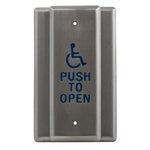 Camden Door Controls CM-35/1 | Square Illuminated Push/Exit Switch, PUSH TO EXIT, DPDT switch