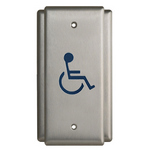 Camden Door Controls CM-35/2 - ELEC KEYSWCHES - ONE GANG S/S PUSH SWITCH