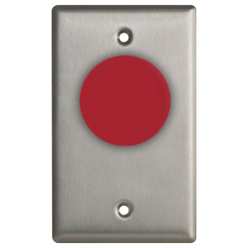 Camden Door Controls CM-4085R   CM-4085R   Mushroom Exit Switch - Single Gang