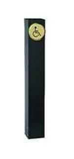 Camden Door Controls CM-48-BSU-MIL | Mounting Post, Mill Finish, 48