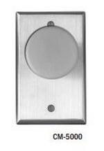 Camden Door Controls CM-5085GE | Mushroom Green Pushbutton (EXIT), Aluminum Faceplate, Single Gang, Spring Return, DPST Time Delay