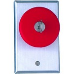 Camden Door Controls CM-6050 | Locking Red Push Button, Push to Lock, Key to Release, N/O & N/C, Maintained