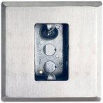 Camden Door Controls CM-66 | Flush Mounting Box and Dress Plate, Single Gang, Standard Depth, Heavy Gauge Stainless Steel