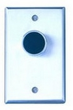 Camden Door Controls CM-7010R   Medium Duty Vandal Resistant Recessed Push Button, Single Gang, Red Button, N/C, Momentary, Brushed Aluminum