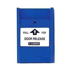 Camden Door Controls CM-702 | Blue Pull Station, 2 N/C Switches, PULL FOR DOOR RELEASE