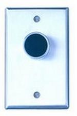 Camden Door Controls CM-7020G | Medium Duty Vandal Resistant Recessed Push Button, Single Gang, Green Button, N/O & N/C, Momentary, Brushed Aluminum