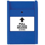 Camden Door Controls CM-703 | Blue Pull Station, 1 N/O & 1 N/C Switch, PULL FOR DOOR RELEASE