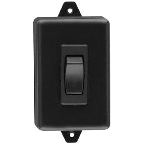 Camden Door Controls CM-830   Rocker Switch, Black Plastic, SPDT Momentary