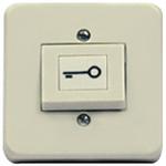 Camden Door Controls CM-850 | Rocker Switch, Beige Plastic, SPDT Momentary