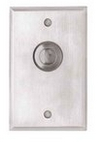Camden Door Controls CM-9080/3 | Mechanical Vandal Resistant Push/Exit Switch, PUSH TO OPEN, Single Gang, DPDT Momentary, Brushed Aluminum