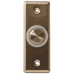 Camden Door Controls CM-9610 | Illuminated Piezoelectric Push/Exit Switch, Narrow, Blank Faceplate, Bright Stainless Steel