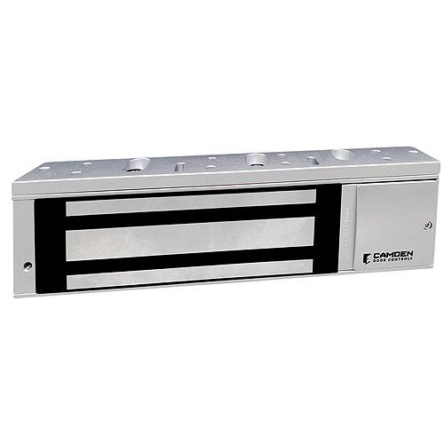 Camden Door Controls CM-CX-91S-12TDS | Single Door Magnetic Lock, 1200lb, Surface Mount, Adjustable Timer, Door Status Switch, Lock Sensor/Relay, LED
