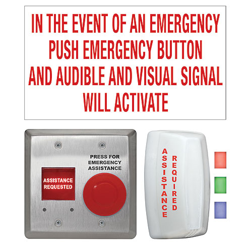 Camden Door Controls CX-WEC10BK2 - ELEC PUSHB SWCH - CX-WEC10BK2