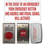 Camden Door Controls CM-CX-WEC10 | Emergency Call for Universal Restroom Kit