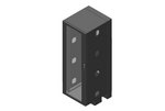 Chatsworth 13496-772   CUBE-iT Wall-Mount Floor-Supported Cabinet