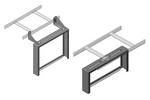 Chatsworth 13395-704   Cable Runway Patch Panel Rack with Side Stringer Brackets