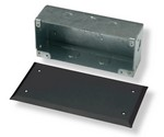 Commscope 1375045-1   Undercarpet Flush Surface Wall Mounting Box and Cover, black