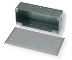 Commscope 1375045-3   Undercarpet Flush Surface Wall Mounting Box and Cover, gray