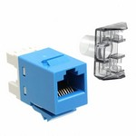Commscope 1375055-6   SL110 Series Modular Jack, RJ45, category 6, T568A/T568B, unshielded, without dust cover, blue
