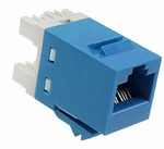 Commscope 1375191-6   SL110 Series Modular Jack, 8-position, RJ45, category 5e, T568A/T568B, unshielded, without dust cover, blue