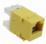Commscope 1375191-9   SL110 Series Modular Jack, 8-position, RJ45, category 5e, T568A/T568B, unshielded, without dust cover, green