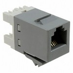 Commscope 1375191-4   SL110 Series Modular Jack, 8-position, RJ45, category 5e, T568A/T568B, unshielded, without dust cover, gray