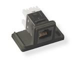 Commscope 1933377-1   Undercarpet SL Series Modular Jack Data Kit, category 6, floor, surface, black