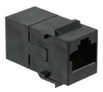 Commscope 555376-1   RJ45 Coupler Assembly, category 3, 8-position, in-line, keyed, black