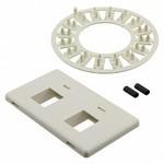 Commscope 558106-2   Flexmode Faceplate Kit, 2-port, flush mount, almond