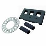 Commscope 558107-1   Flexmode Faceplate Kit, 3-port, flush mount, Black