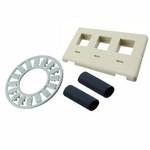 Commscope 558107-2   Flexmode Faceplate Kit, 3-port, flush mount, almond