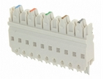 Commscope 558402-1   110Connect XC System Connector Block, 5-pair, PCB, 110 punchdown, white