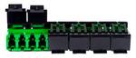 Commscope AFA-LC12-GR-10-BULK-PACK-SHUTTERED | TeraSPEED LC-APC Multiport Shuttered Adapter, Green, 10 Bulk Pack