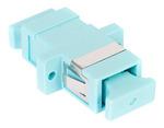Commscope MFA-SC01-AQ | LazrSPEED SC Simplex Adapter, Aqua, Single Pack