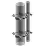 Commscope JS-S100 | Pipe-to-Pipe Adapter, adapts 2-3/8 in to 4 in OD pipe to 4 in to 9 in OD pipe