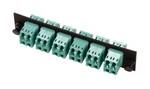 Commscope 1435516-5   Fiber Optic Snap-In Adapter Pack, multimode, LC, 24-fiber, aqua, loaded