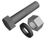 Commscope SB-0310 | Stainless Steel Bolt, 3/8 in x 1 in