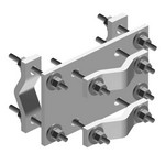 Commscope CO-100 | Crossover Plate, joins 1-1/2 in to 3-1/2 in OD round members