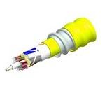 Commscope N-008-DZ-8W-FSUYL/B2 | TeraSPEED Low Smoke Zero Halogen Riser Distribution Cable, interlocking aluminum armored with low smoke zero halogen riser jacket, 8 fiber single-unit