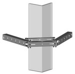 Commscope SS-2FB6080 | Star Support  Face Bracket, dual, for 4 in to 10-3/4 in OD round members and 4 in to 8 in angle members