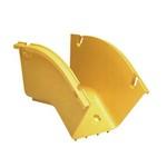 Commscope FGS-MD4E-A | FiberGuide 45° Down Elbow, 4x4in, Yellow