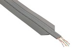 Commscope TE510UC-GY250   Undercarpet Copper Cable, category 5e, 4-pair, 8 conductors, unshielded, 250 ft, gray