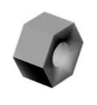 Commscope GN-04 | Galvanized Hex Nut, 1/2 in