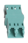Commscope KFA-LC02-KAQ | LazrSPEED, OptiSPEED, TeraSPEED  LC Duplex Keyed Adapter, Aqua, Single Pack