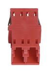 Commscope KFA-LC02-KRD | LazrSPEED, OptiSPEED, TeraSPEED  LC Duplex Keyed Adapter, Red, Single Pack