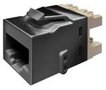 Commscope KJ510 JACK-BLK   KJ Series Keystone Modular Jack, 8-position, category 5e, unshielded UTP, black