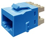 Commscope KJ510 JACK-BLU   KJ Series Keystone Modular Jack, 8-position, category 5e, unshielded UTP, blue
