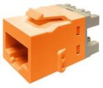 Commscope KJ510 JACK-ORG   KJ Series Keystone Modular Jack, category 5e, orange